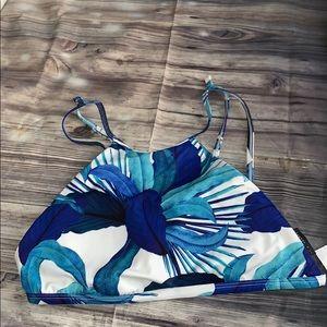 Halter bikini top ☀️ la hearts in blue
